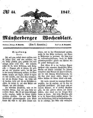 Münsterberger Wochenblatt vom 05.11.1847