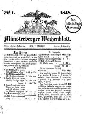 Münsterberger Wochenblatt on Jan 7, 1848
