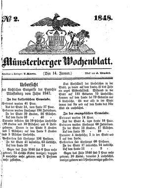 Münsterberger Wochenblatt vom 14.01.1848
