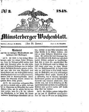 Münsterberger Wochenblatt vom 21.01.1848