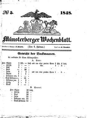 Münsterberger Wochenblatt vom 04.02.1848