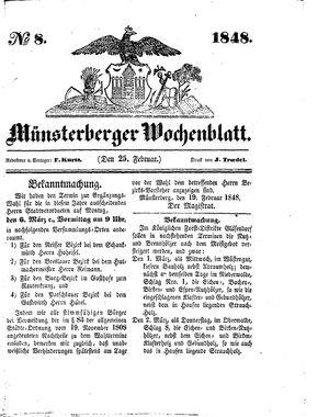 Münsterberger Wochenblatt on Feb 25, 1848