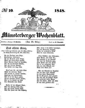 Münsterberger Wochenblatt vom 10.03.1848