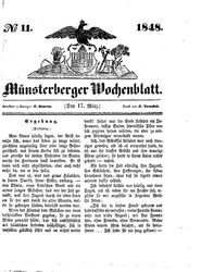 Münsterberger Wochenblatt (17.03.1848)