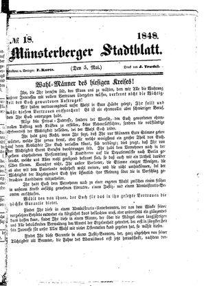 Stadt- und Wochenblatt vom 05.05.1848