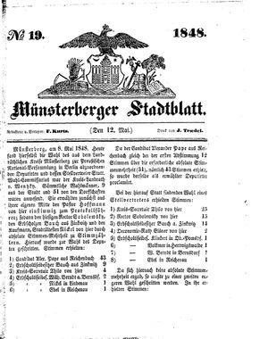 Stadt- und Wochenblatt vom 12.05.1848