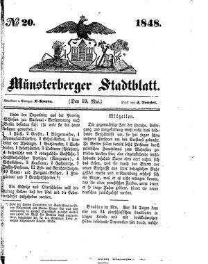 Stadt- und Wochenblatt vom 19.05.1848
