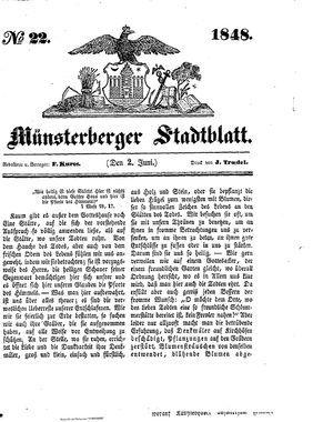 Stadt- und Wochenblatt on Jun 2, 1848