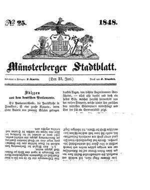 Stadt- und Wochenblatt on Jun 23, 1848