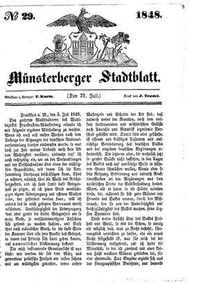 Stadt- und Wochenblatt vom 21.07.1848