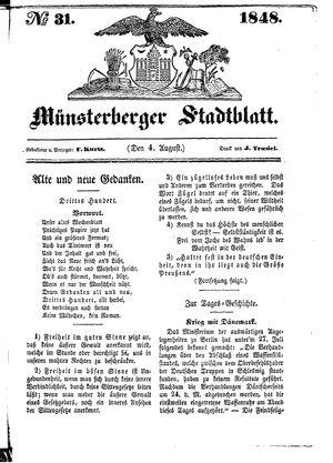 Stadt- und Wochenblatt on Aug 4, 1848