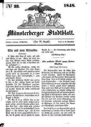 Stadt- und Wochenblatt on Aug 18, 1848