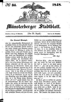 Stadt- und Wochenblatt on Aug 25, 1848
