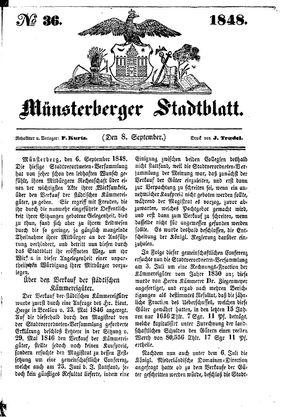 Stadt- und Wochenblatt vom 08.09.1848