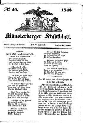 Stadt- und Wochenblatt vom 06.10.1848