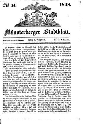 Stadt- und Wochenblatt vom 03.11.1848