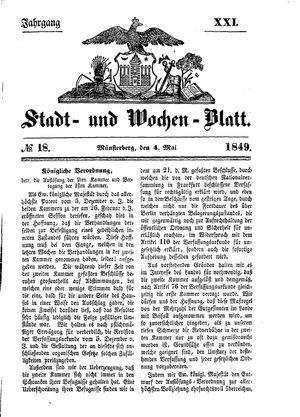 Stadt- und Wochenblatt vom 04.05.1849