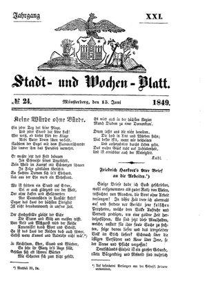 Stadt- und Wochenblatt on Jun 15, 1849