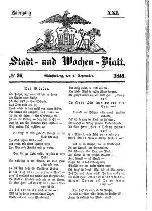 Stadt- und Wochenblatt on Sep 7, 1849