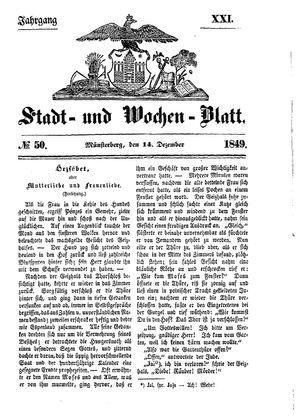 Stadt- und Wochenblatt on Dec 14, 1849