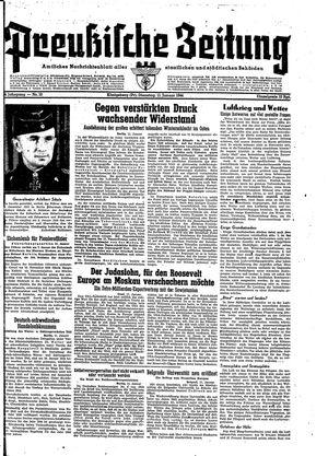 Preußische Zeitung vom 11.01.1944