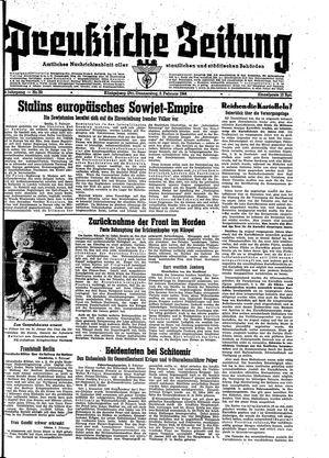 Preußische Zeitung vom 03.02.1944