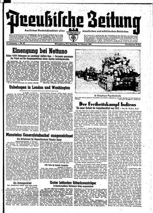 Preußische Zeitung vom 13.02.1944