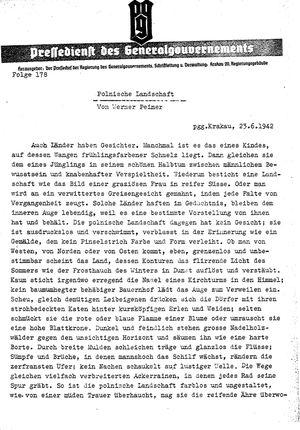 Pressedienst des Generalgouvernements / Pressechef der Regierung des Generalgouvernements vom 23.06.1942