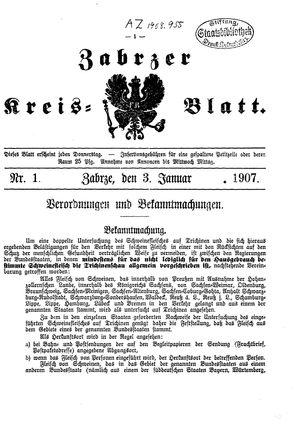 Zabrzer Kreis-Blatt vom 03.01.1907