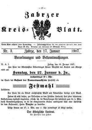 Zabrzer Kreis-Blatt vom 17.01.1907