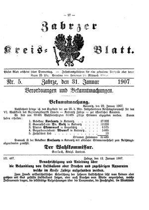 Zabrzer Kreis-Blatt vom 31.01.1907