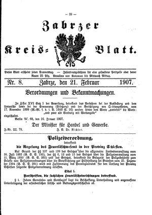 Zabrzer Kreis-Blatt vom 21.02.1907