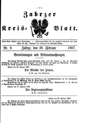 Zabrzer Kreis-Blatt vom 28.02.1907