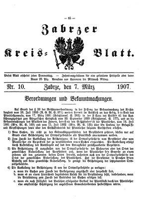 Zabrzer Kreis-Blatt vom 07.03.1907