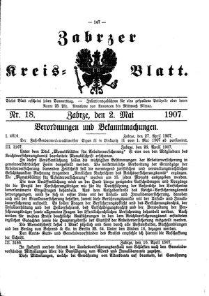 Zabrzer Kreis-Blatt vom 02.05.1907