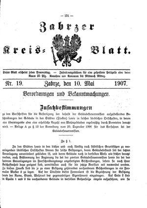 Zabrzer Kreis-Blatt vom 10.05.1907