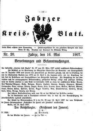 Zabrzer Kreis-Blatt vom 16.05.1907