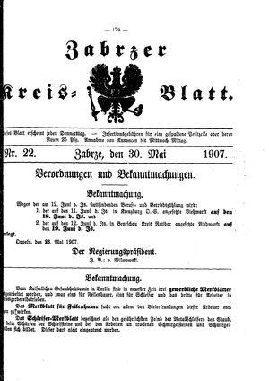Zabrzer Kreis-Blatt vom 30.05.1907