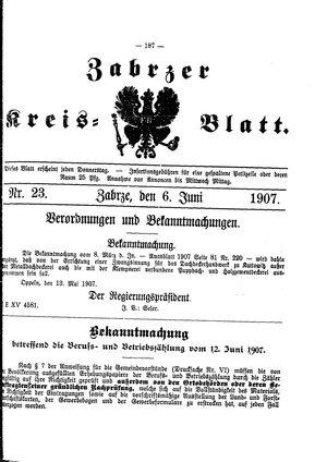 Zabrzer Kreis-Blatt vom 06.06.1907