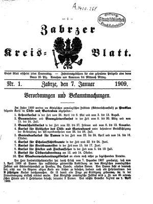 Zabrzer Kreis-Blatt vom 07.01.1909