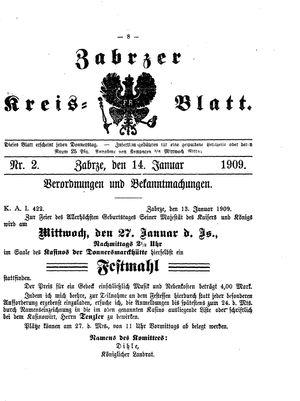 Zabrzer Kreis-Blatt vom 14.01.1909