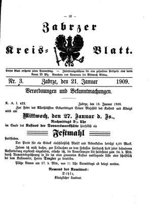 Zabrzer Kreis-Blatt vom 21.01.1909