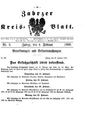 Zabrzer Kreis-Blatt vom 04.02.1909