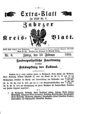 Zabrzer Kreis-Blatt on Feb 10, 1909