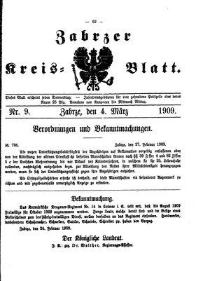 Zabrzer Kreis-Blatt vom 04.03.1909