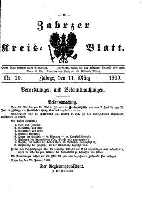 Zabrzer Kreis-Blatt vom 11.03.1909