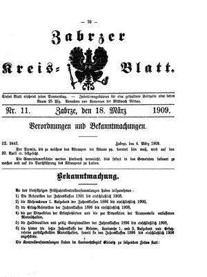 Zabrzer Kreis-Blatt vom 18.03.1909