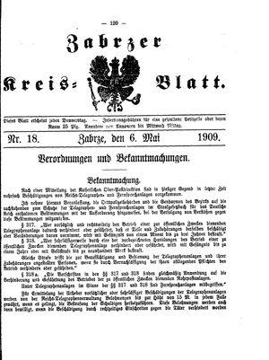 Zabrzer Kreis-Blatt vom 06.05.1909