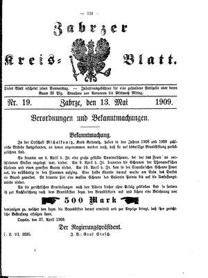 Zabrzer Kreis-Blatt vom 13.05.1909