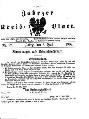 Zabrzer Kreis-Blatt vom 03.06.1909